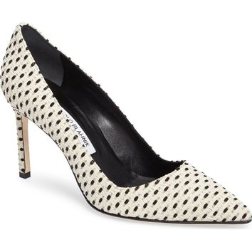 Manolo Blahnik BB Pointy Toe Pump (Women) | Nordstrom