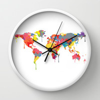 World Map Wall Clock by ArtisanObscure Prints