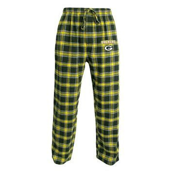 Green Bay Packers Plaid Flannel Lounge Pants - Men