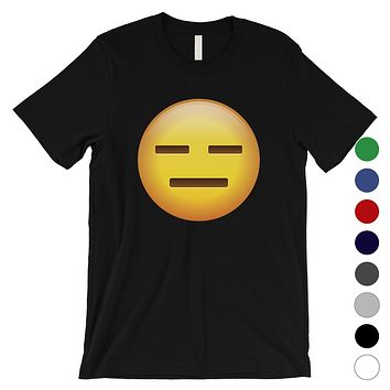 Emoji-Emotionless Mens Whatever Empty Funny Halloween T-Shirt Gift