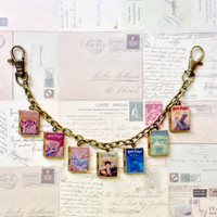 Harry Potter Series Book Locket/Bag Charm/Keyholder/Literary Bracelet/Book Locket Bracelet/Necklace/Bookmark