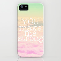 *** YOU MAKE ME STRONG *** iPhone & iPod Case by SUNLIGHT STUDIOS *** LOVE 1D ***
