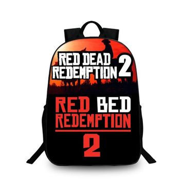 School Bags Red Dead: Redemption 2 Game For Student Backpack Back To School For Teens Travel Bag Boys Bookbags H256
