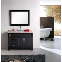 Design Element DEC059B Hudson Dark Espresso 48 Inch Single Sink Bathroom Vanity Set