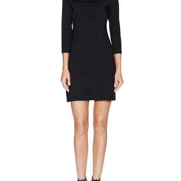Susana Monaco Women's Funnel Cowl Neck Dress - Black -