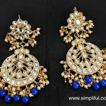 Kundan replica Earring - Design 3