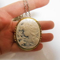 Tinkerbell Fairy Cameo Once Upon a time abc Silhouette Necklace girls jewelry