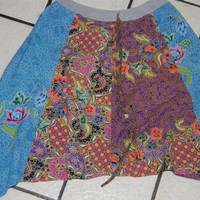 Asymetrical Flower Hippie Gypsy Fairy Pixie Skirt