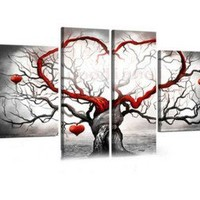 Hot sale! Modern Art Canvas New Manual Wall Parlor Bedroom Painting Abstract
