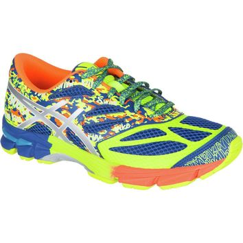 asics gel noosa tri 10 gs running shoe boys blue lightning flash yellow  number 1