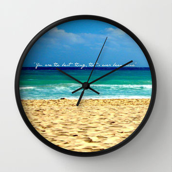 you are the best thing that's ever been mine Wall Clock by McKenzie Nickolas (kenzienphotography)