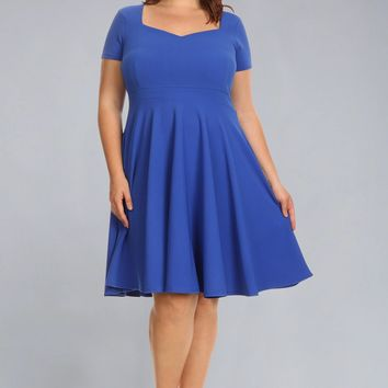 FIT N FLARE PLUS SIZE DRESS