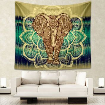 Boho Elephant Print Wall Tapestry Wall Murals Beach Towel Beach Blanket  11640