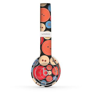 The Colored Vector Buttons Skin Set for the Beats by Dre Solo 2 Wireless Headphones
