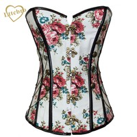 Steampunk Corset and Bustiers Floral Thumbnail Stud Military Inspired Cheaper price
