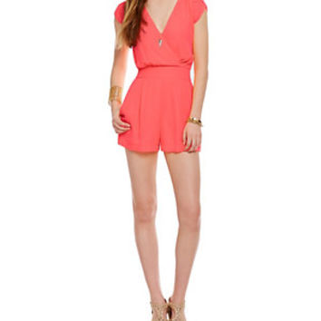 GB Fan Fav Short Sleeve Tie-Back Romper | Dillard's Mobile