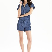 Old Navy Womens Chambray Rompers