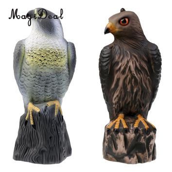 MagiDeal Outdoor PE Fake Realistic Eagle Hunting Decoy Pest Control Bird Pigeon Crow Scarer Scarecrow for Hunting Home Decor