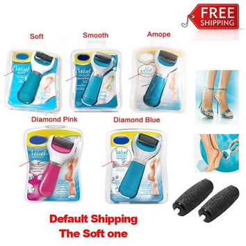 Electric Foot Mill to Grind Calluses & Dead Dry Skin Remover Foot Skin Exfoliating Repair (Color: Blue) [8323204993]