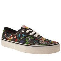 Womens Black & Red Vans Authentic X Avengers Trainers | schuh