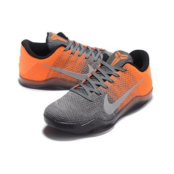 Nike Kobe XI Elite Gray/Orange Basketball Trainers Size US7-12