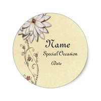 Save the Date for Special Occasion Classic Round Sticker