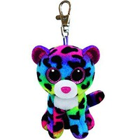 """Ty Beanie Boos Dotty the Leopard Clip 3"""" Keychain Plush Stuffed Animal Collectible Doll Toy"""