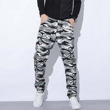 New Fashion Men Jogger Pants Tapered Hip Hop Pants Military Camouflage Jeans Casual Trousers Plus Size M-5XL