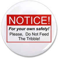 "Feed / Tribble 3.5"" Button on CafePress.com"