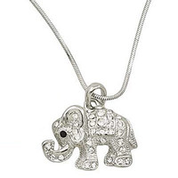 *[N/L]-Rhinestone Elephant Pendant Necklace