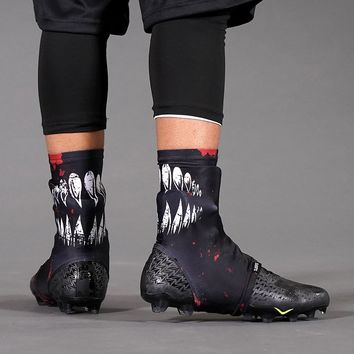Villain Black Maroon Spats / Cleat Covers