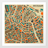 Amsterdam Art Print by Jazzberry Blue