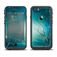 The Electric Teal Volts Apple iPhone 6 LifeProof Fre Case Skin Set