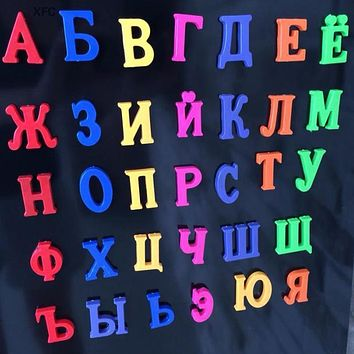 Russian Language Alphabet Magnetic Letters Block Baby Kids Educational Toy Fridge Magnet Alphabet Toy Xmas Chirstmas Gift