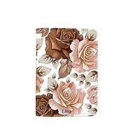 Flower Rose Name Customized Cute Leather Passport Holder - Passport Covers - Passport Wallet_SUPERTRAMPshop