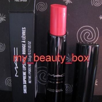 MAC Sheen Supreme lipstick FULL SPEED