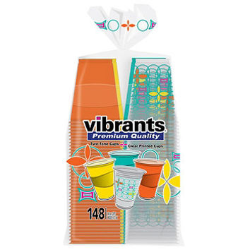 Vibrants Premium Quality Summer Cups, 117 Summer Color Cups, 31 Summer Print Cups (148 ct.)