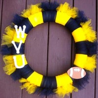 WVU Wreath West Virginia University Football