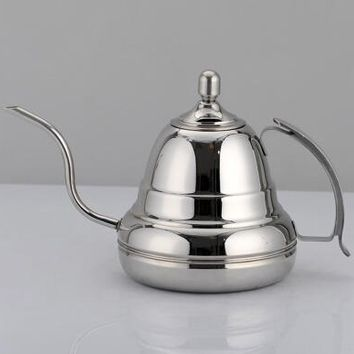 High Quality Kitchen Coffee Pot Stainless Steel Coffee Drip Kettle Tea Pot1.2L Fine mouth coffee pot
