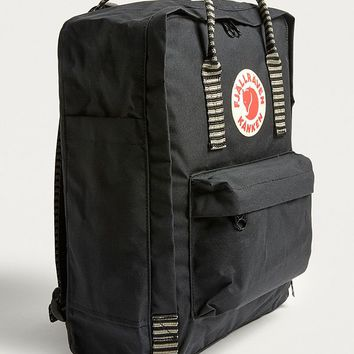 Fjallraven Kanken Black Striped Backpack | Urban Outfitters
