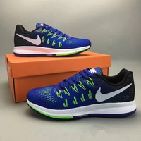 """Nike Air Zoom Pegasus 33"" Fashion Casual Breathable Unisex Sneakers Couple Running Sh"