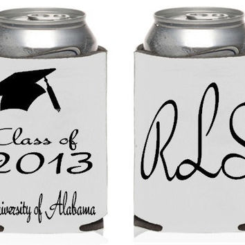Custom Graduation Koozies, Class of 2013, Customizable, Personalized Koozies, Design Your Own Koozies