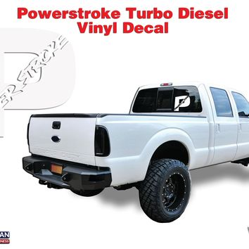 "Powerstroke Turbo Diesel Hood Window Body vinyl sticker decal 12"" Superduty"