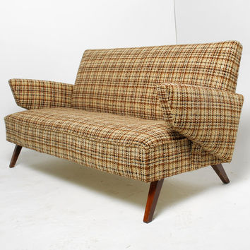 Mid Century Modern Small Sofa or Loveseat in the Style of Jens Risom