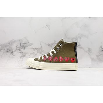 Comme Des Garcons Play X Chuck 70 High Top Multi Heart Cdg Sneakers