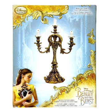 Disney Store Beauty and the Beast Lumiere Candelabra Movie Edition New with Box