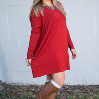 One Day At A Time Tunic, Rust