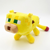 1PC Retail Ocelot Cat Minecraft Plush Toys Creeper Squid Enderman Pig Mooshroom Totally 7 Types Minecraft for Choice Stuffed Dolls