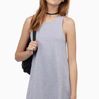 Grey Sleeveless Mini Dress