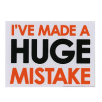 Arrested Development Huge Mistake Sticker